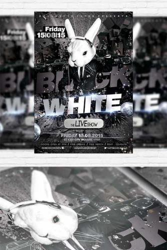 Black and White - Flyer Template