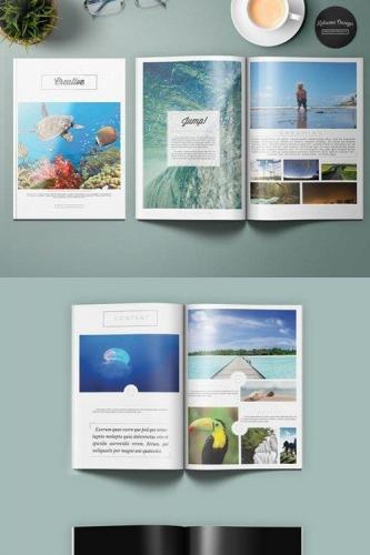 Creative Black &White Brochure