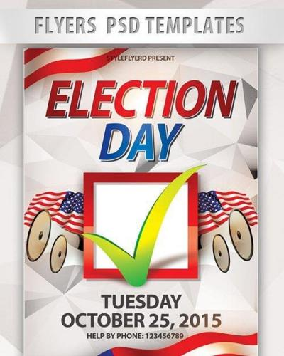 Election Day PSD Template + Facebook Cover