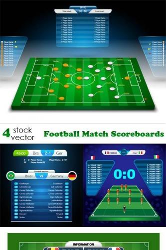 Vectors - Football Match Scoreboards