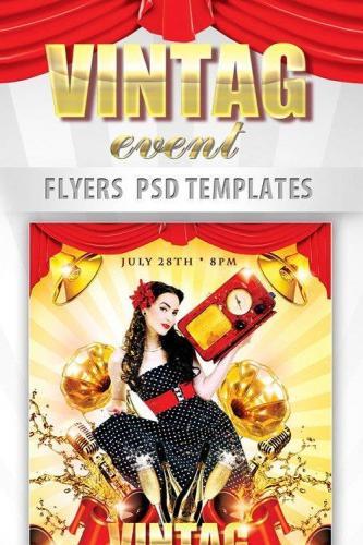 Vintage Event Flyer PSD Template