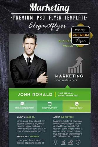 Marketing PREMIUM Flyer PSD Template