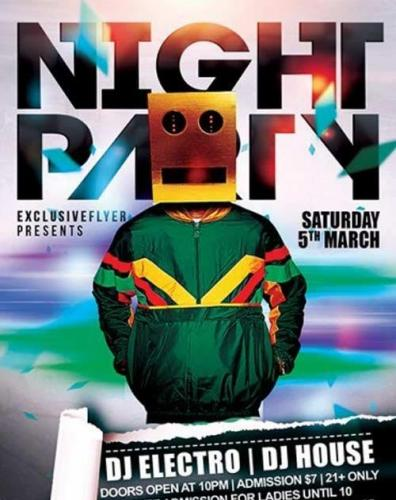 Night Party Premium Flyer Template