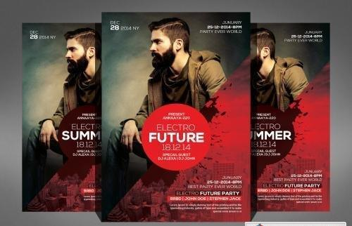 Electro Future Flyer Template 578036