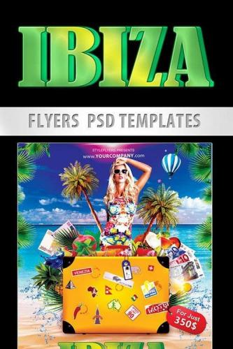 Ibiza Flyer PSD Template + Facebook Cover