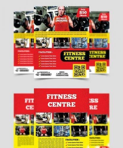 Fitness Center Flyer Template