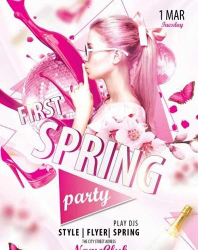 First Spring V2 Party PSD Premium Flyer Template