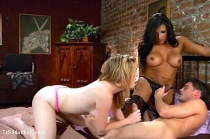Kink_com- HOT THREESOME WITH TS BABE JESSY DUBUI_A GUY AND NEW INNOCENT GIRL!