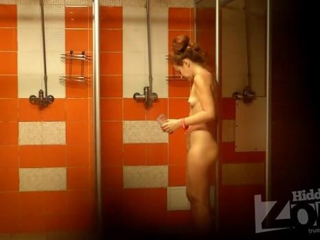 Hidden-Zone.com- Sh1215# Red-haired beauty with chic ass is taking a shower after a workout. Our cameraman filmed h