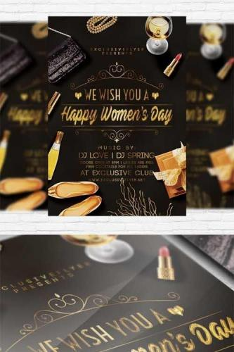 Happy Womens Day - Flyer Template