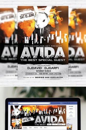 Special Guest DJ Avida - Flyer Template