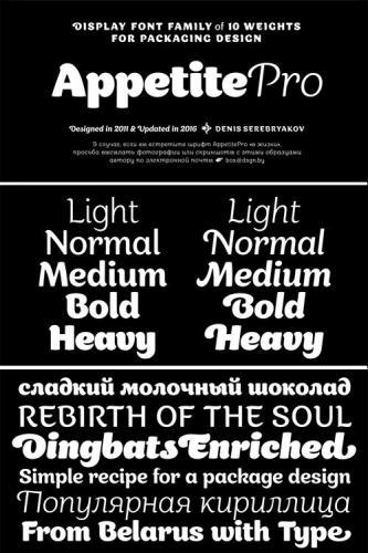 Appetite Pro Font Family