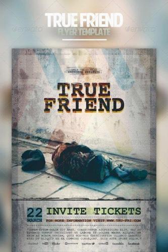 True Friend Flyer Template