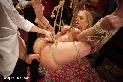 Kink_com- Big Tits Blonde Slave Suspended for Anal Fuck vs. Petite Cock Sucker