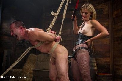 Kink_com- Bitch Boy in a Barn: Lifestyle Dominatrix Abuses and Fucks Slave Boy