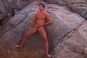 Awesomeinterracial.com- Three Hot Studs Masturbate at Beach