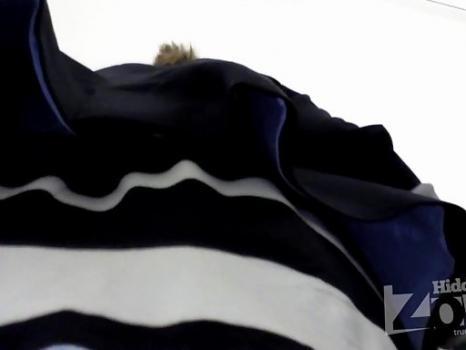 Hidden-Zone.com- Up1936# Slim girl in a short striped skirt. Escalator can shoot great hot teen girls upskirt. Exce
