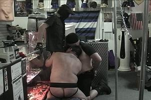Awesomeinterracial.com- Blindfolded Submissive Blow Job In Late-Night Porn Shop