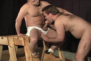 Awesomeinterracial.com- Helpless Stud Tied Up And Ass Pumped By Two Separate Guys