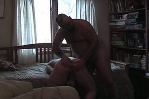 Awesomeinterracial.com- Two Chunky Bears Blow Each Other In Anonymous Hotel Room