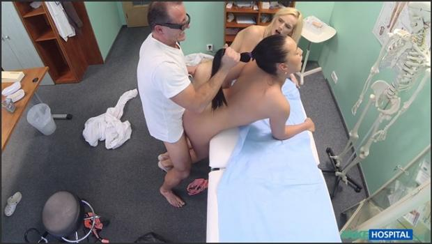 Fakehub.com- Doctor and nurse team up and pleasure married patient