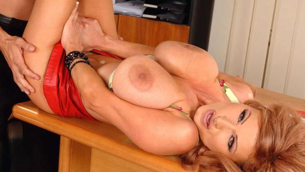 DDFBusty.com- Hot secretary with huge juggs!