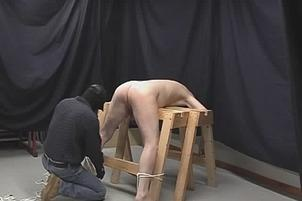 Awesomeinterracial.com- Submissive Guy Tied Face Down And Painfully Ass Fucked