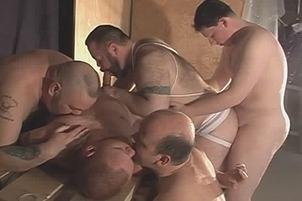 Awesomeinterracial.com- Big Daddy And His Gay Friends Sucking Cock
