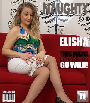 Mature.nl- Mature - Elisha (44) - Elisha fucks her unshaven pussy with a vibrator