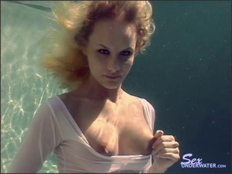 Sexunderwater.com- Leah_s White Dress