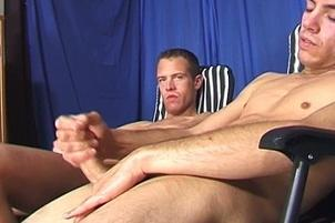 Awesomeinterracial.com- Curious Coed Studs Jack Off Side By Side