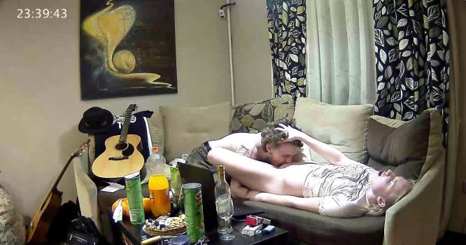 Voyeur-house.tv- Layne eats pussy of hot blonde guest girl