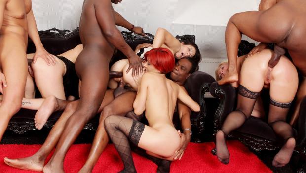 Smutpuppet.com- Mature Interracial Orgy