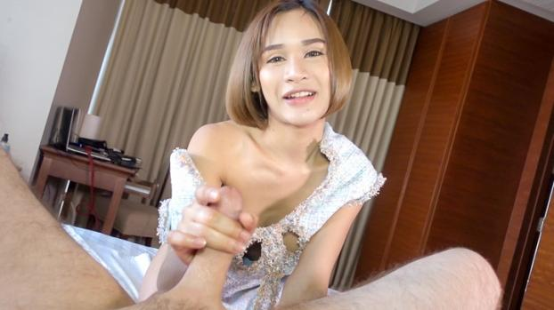 ladyboygold.com- GF Dress No Panties Bareback HJ