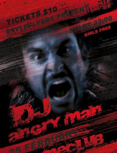 Dj Angry Man Flyer PSD Template