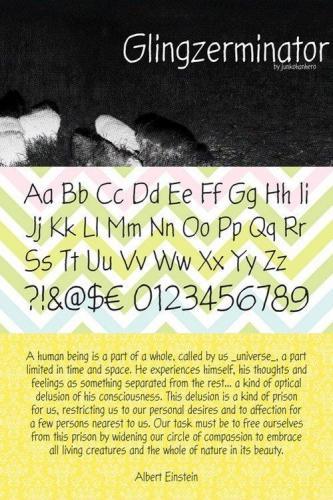 Glingzerminator Font