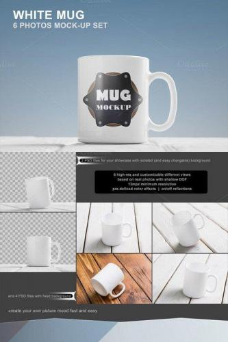 White Mug Mockup Set