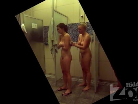 Hidden-Zone.com- Sh1470# Two friends take a shower after the pool. One washes the other back. Two naked girls - thi