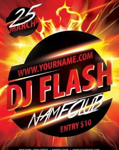 Dj Flash Flyer PSD Template