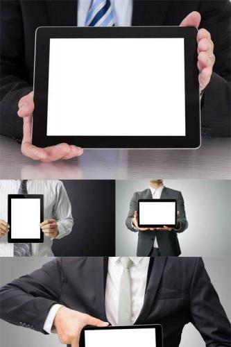 Photos - Business people with Tablet PC