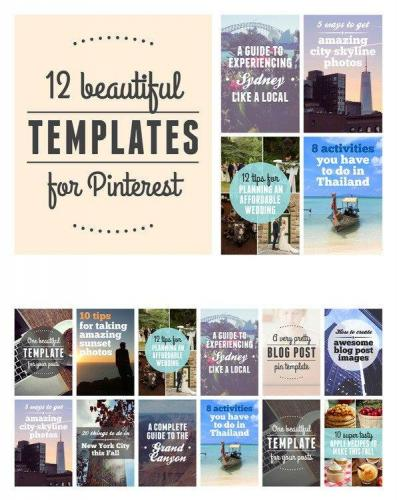 12 Beautiful Templates for Pinterest