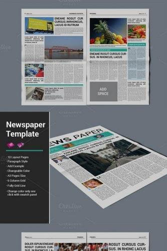 Newspaper Template 471074
