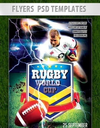 Rugby World Cup Flyer PSD Template