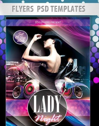 Lady Night Flyer PSD Template
