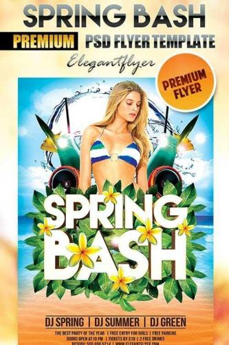 Spring Bash Flyer PSD Template