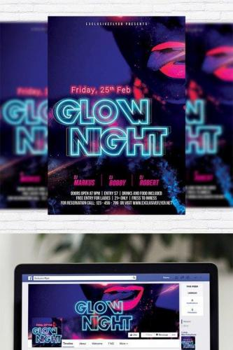 Glow Night - Flyer Template