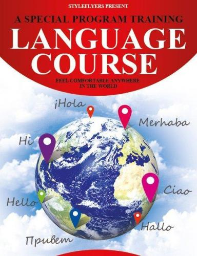 Language Course Flyer PSD Template