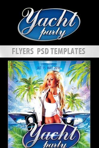 Yacht Party Flyer PSD Template