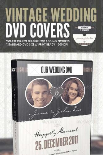 Vintage Wedding DVD Covers & Disc Label