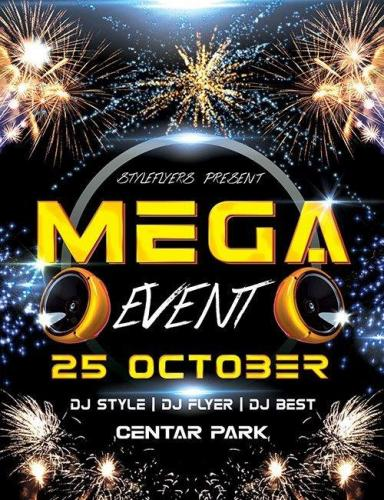 Mega Event PSD Flyer Template